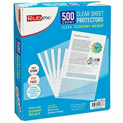Sheet Protectors, Holds 8.5 X 11 Inch Sheets, 9.25 11.25 Top Loading, Clear, For
