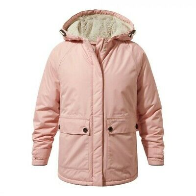 CRAGHOPPERS Girls Winter Coat Waterproof Insulated Blush Pink Age 10 years BNWT