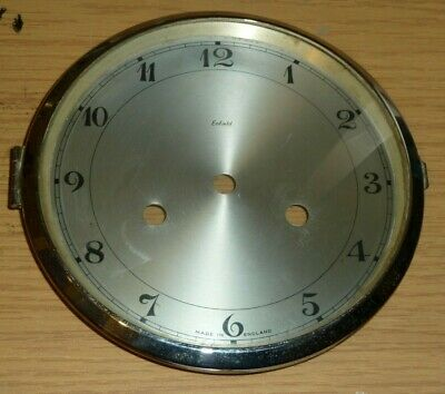 "Hinged glazed clock bezel insert with Enfield dial - to fit 6"" aperture"