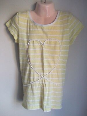 Next Girls Short Sleeve Yellow Heart Tee T-Shirt - For Ages 10 Years