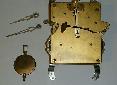 1930's striking clock movement for spares - with pendulum hands & gong