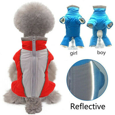 NEW Dog Puppy Winter Jumpsuit Clothes Thicken Windproof Jacket Warm Coat Apparel