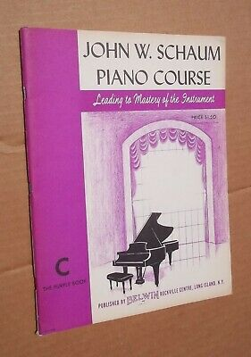 Sheet Music Book, John W. Schaum Piano Course C The Purple Book, Belwin, 1945