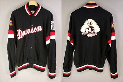 Vintage Authentic Sand Knit Dawson Pirate NJCAA 2 Sided Sewn Patch Cardigan - 42