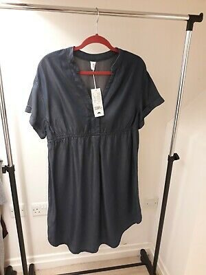 Brand New with Tags H&M Mama Maternity denim dress size 10