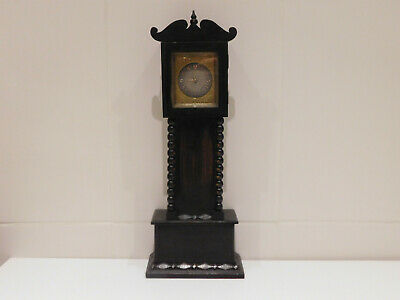 Antique Miniature Fusee Verge Longcase/Grandfather Clock By English Royal Make