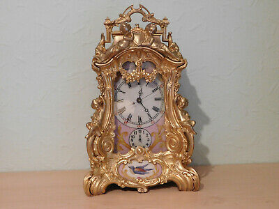 Antique Style Large Repeating Repeater Alarm Enamel Panel Carriage Clock.