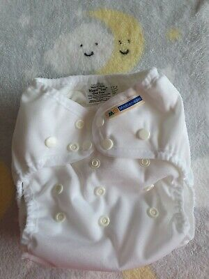 Mother Ease Wizard Uno Stay Dry All In One Cloth Reusable Nappy White×