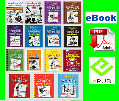 Diary Of A Wimpy Kid Collection 15 Books Set By Jeff Kinney 🔥{ ҽᗷOOK-P.'D'.F}🔥