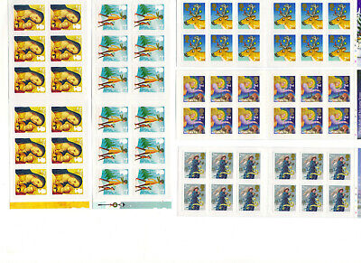 5 Royal Mail booklets of 12 Second Class Christmas stamps FV £36+ SAVE UP TO 50%
