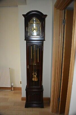 Contempoary Styled 'Tempus Fugit' Full Westminster chime grandmother clock