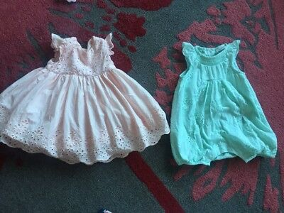 Baby Girl  Bundle Summer Next Romper Up To 3 Months /Dress 3-6 Months Mothercare