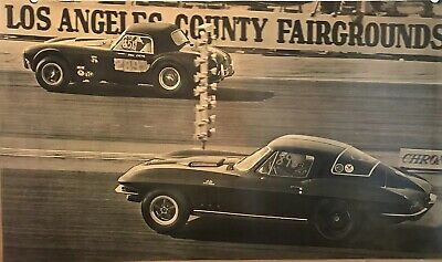 1965 Cobra Daytona Coupe World Champion Powered by Ford Car Poster WOW!!