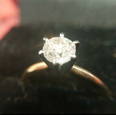 14ct ROSE GOLD 1ct CARAT NATURAL DIAMOND engagement/anniversary/Christmas RING