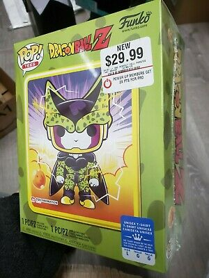 Funko Pop! Tees Dragon Ball Z DBZ Perfect Cell GameStop Exclusive Size L IN HAND