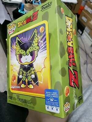 Funko Pop! Tees Dragon Ball Z DBZ Perfect Cell GameStop Exclusive Size M IN HAND