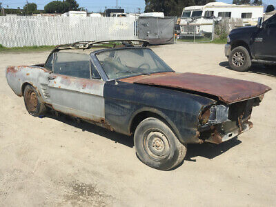 1966 Ford Mustang V-8 Convertible 1966 Ford Mustang Convertible project. Very Restorable