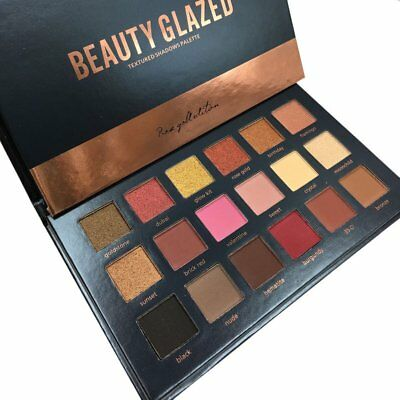 Beauty Glazed 18 Color Eye Shadow Makeup Palette Shimmer Matte Cosmetics Tool J