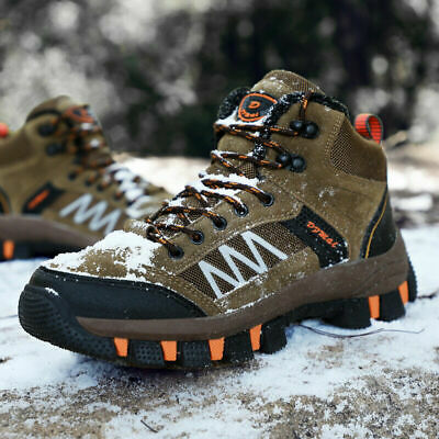 Men's Hiking Shoes Snow Climbing Boots Casual Warm Waterproof Outdoor Winter