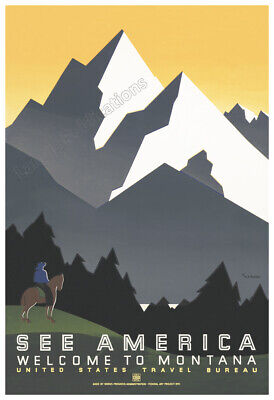 """20x28 1930s See America /""""Arches/"""" Classic Vintage WPA Travel Poster"""