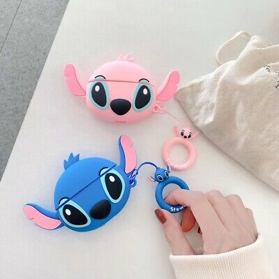 Stitch Silicone Earphone Protective Cover For Apple Airpods 1/2/3 Charging Case