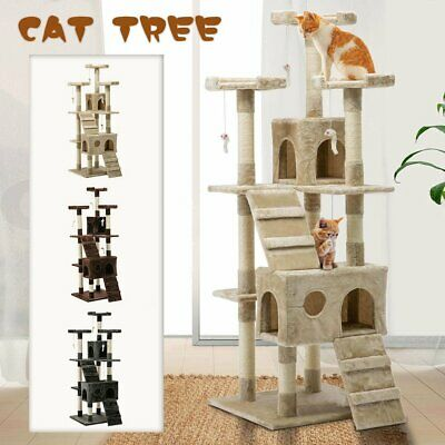 82cm Cat Tree Trees Scratching Post Scratcher House Furniture Wood Tower Condo