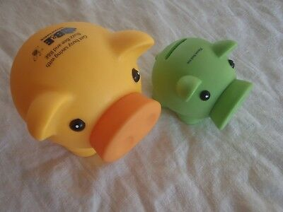 Bank money boxes x 2