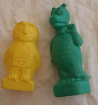 Plastic bank money boxes x 2