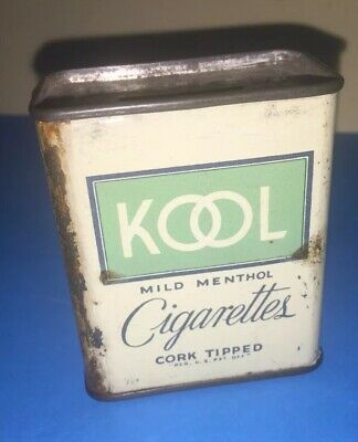 Old Kool & Raleigh Cigarettes Original Money Box Can