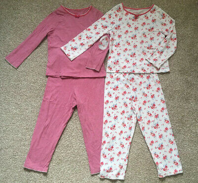 Cath Kidston Girls Pyjamas, Age 3-4, Set Of 2 With Floral Design