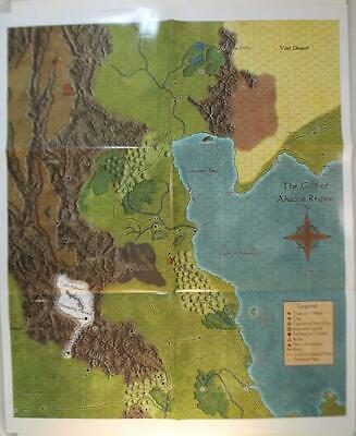 Frog God Lost Lands Gulf of Akados, The - Poster Map Zip MINT