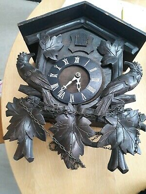German Black Forest Cookoo Clock Parts Unfinished Project