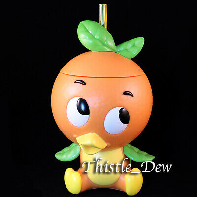 Disney Parks ORANGE BIRD SIPPER Cup EPCOT Flower Garden FESTIVAL Exclusive WDW