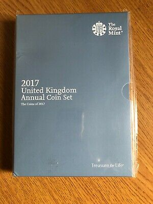 Royal Mint 2017 United Kingdom Annual Coin Set 13 Coins New & Sealed
