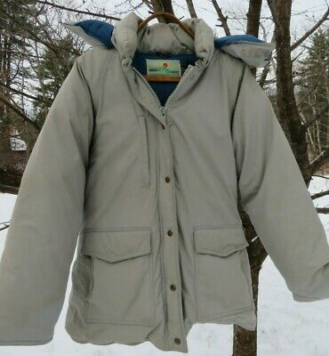 Eastern Mountain Sports vintage women's L down parka tan colored