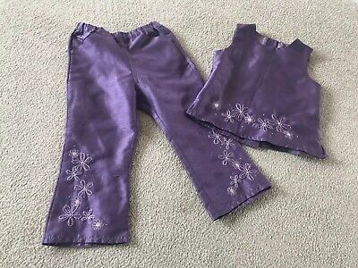 Girls Next Vintage Purple Embroidered Outfit - Age 2 Years