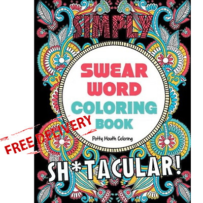 Swear Words Colouring Book Mandalas Animals Flowers Adults Coloring Paperback