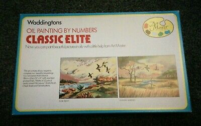 Vintage Waddingtons Oil Painting By Numbers. Evening Marshes. Art Master
