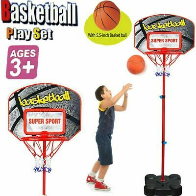 Kids Basketball Free Standing Medium Adjustable Backboard Hoop Net Xmax Gift Set