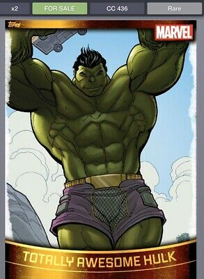 Topps Marvel Collect Totally Awesome HulkGOLD DECADES 2010s [DIGITAL CARD] 750cc