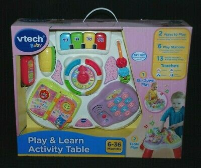 Vtech Baby Play & Learn Activity Table For Age 6-36 Months Pink NIB