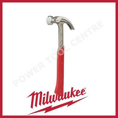 Milwaukee 4932464028 20oz. Curved Claw Smooth Face Hammer With Red Handle