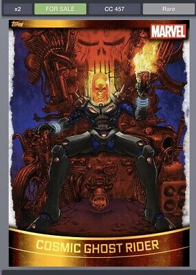 Topps Marvel Collect Cosmic Ghost Rider GOLD DECADES 2010s [DIGITAL CARD] 750cc