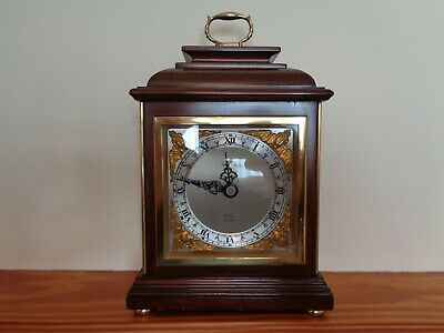 Vintage Elliott Of London Mahogany Caddy Top Mantle Clock 8 Day Gwo Oiled Vgc