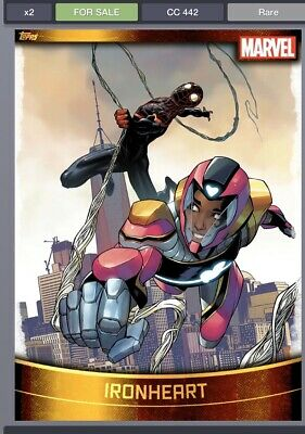Topps Marvel Collect Ironheart  GOLD DECADES 2010s [DIGITAL CARD] 750cc