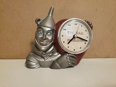 VTG Wizard Of Oz Tin Man CLOCK I'm All Heart 1998 WORKS Sweetheart Love Gift