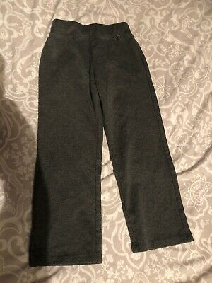 Girls Grey School Trousers From George, Size 5-6 years