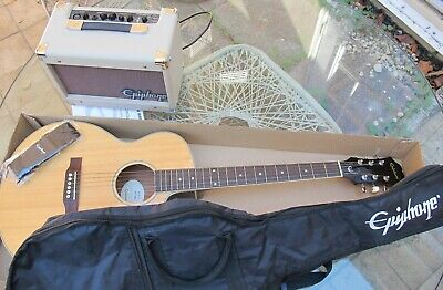 NEW Epiphone PR-4E Acoustic Electric Guitar & Amp