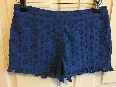 M & S cornflower blue broderie anglaise frill shorts Boden style age 10 -11 BNWT