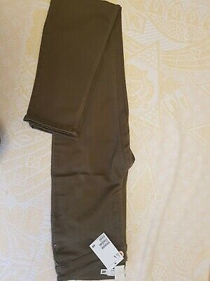 H&M womens Khaki trousers size 8 Brand new with tags